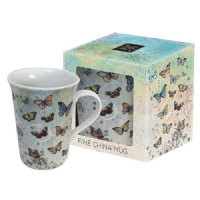 Colourful Butterflies Foil Art Design Mug